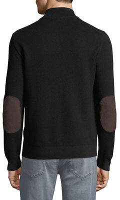 Michael Kors Men's Mock-Neck Elbow-Patch Sweater