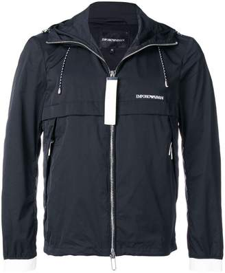 Emporio Armani hooded rain jacket