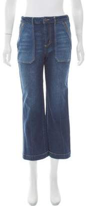 Rebecca Taylor Mid-Rise Straight-Leg Jeans