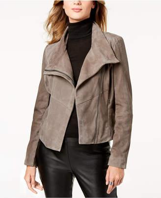Michael Kors Asymmetrical Suede Moto Jacket