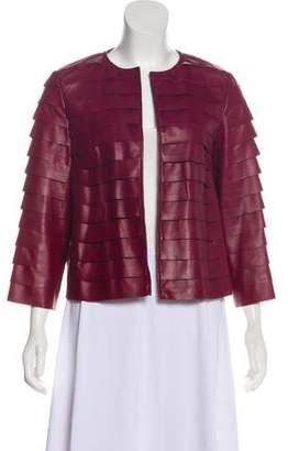 Lafayette 148 Leather Pleated Jacket
