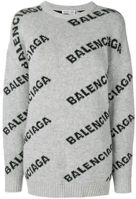 Balenciaga Jacquard Logo Crewneck sweater