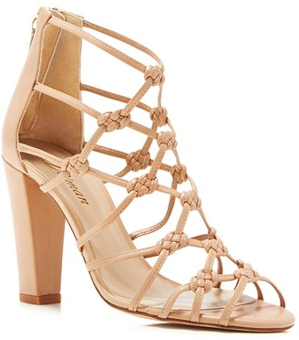 Delman Scandal Knotted High Heel Sandals $378 thestylecure.com