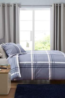 Next 2 Pack Blue Check And Stripe Bed Set