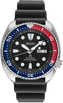 Seiko Men's Prospex Automatic Diver Black Silicone Strap Watch 45mm SRP779