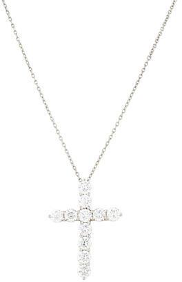 Tiffany & Co. Platinum Diamond Cross Pendant Necklace $8,495 thestylecure.com