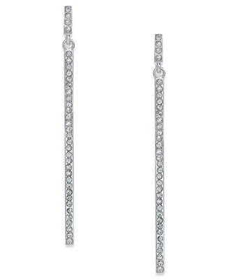INC International Concepts I.n.c. Pave Stick Linear Drop Earrings
