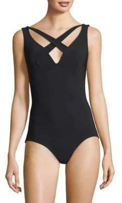 Chiara Boni One-Piece Crisscross X Swimsuit