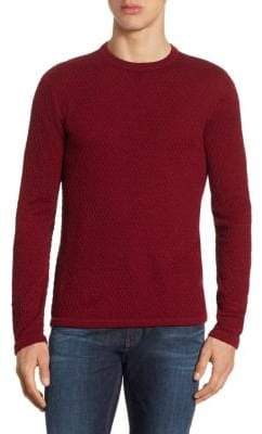 Giorgio Armani Slim-Fit Bordeaux Wool Sweater
