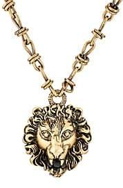 Gucci Men's Lion Head Pendant Necklace - Gold