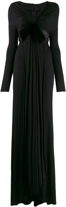 Gianfranco Ferre Pre-Owned 1990's bow detail gathered gown