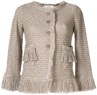 Charlott button fringe jacket