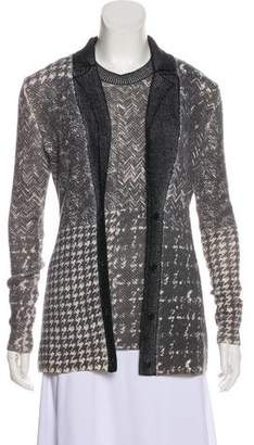 Oscar de la Renta Patterned Wool Cardigan Set