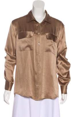 Equipment Silk Button-Up Top