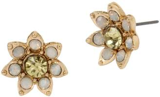 Betsey Johnson Bee Mine Goldtone Crystal Flower Stud Earrings