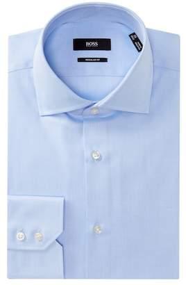 BOSS Gerald Solid Regular Fit Dress Shirt