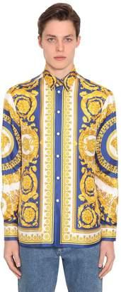 Versace Heritage Baroque Print Silk Shirt