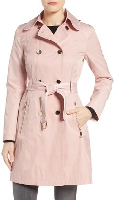 Women's Guess Piped Trench Coat $198 thestylecure.com