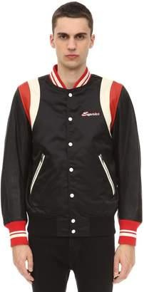Diesel Bomber Jacket W/ Leather Sleeves
