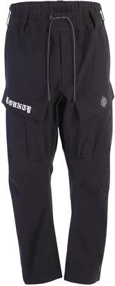 Marcelo Burlon County of Milan Black Cargo Trousers