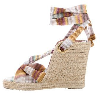Missoni Striped Espadrille Wedges