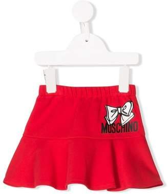 Moschino Kids logo print skirt