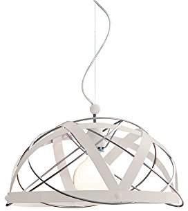 Aster GIBAS Pendant Lamp, Metal, Aluminium/Beige