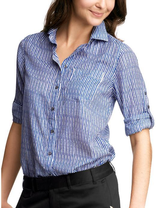 Striped silky shirt