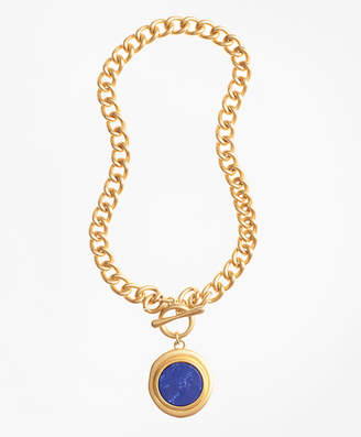 Brooks Brothers Gold-Plated Toggle Pendant Necklace