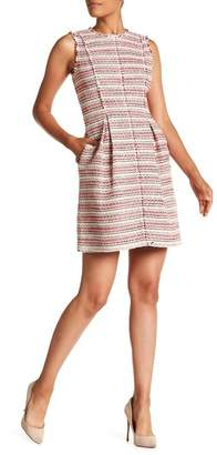 Rebecca Taylor Sleeveless Optic Tweed Dress