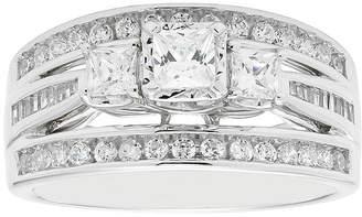 MODERN BRIDE Love Lives Forever 1 CT. T.W. Princess-Cut Diamond 10K White Gold 3-Stone Ring