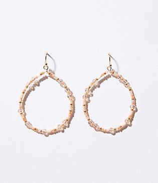 LOFT Beaded Loop Drop Earrings
