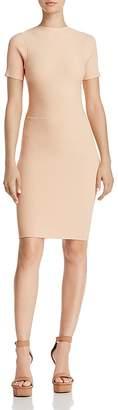 Olivaceous Tie-Back Rib-Knit Dress
