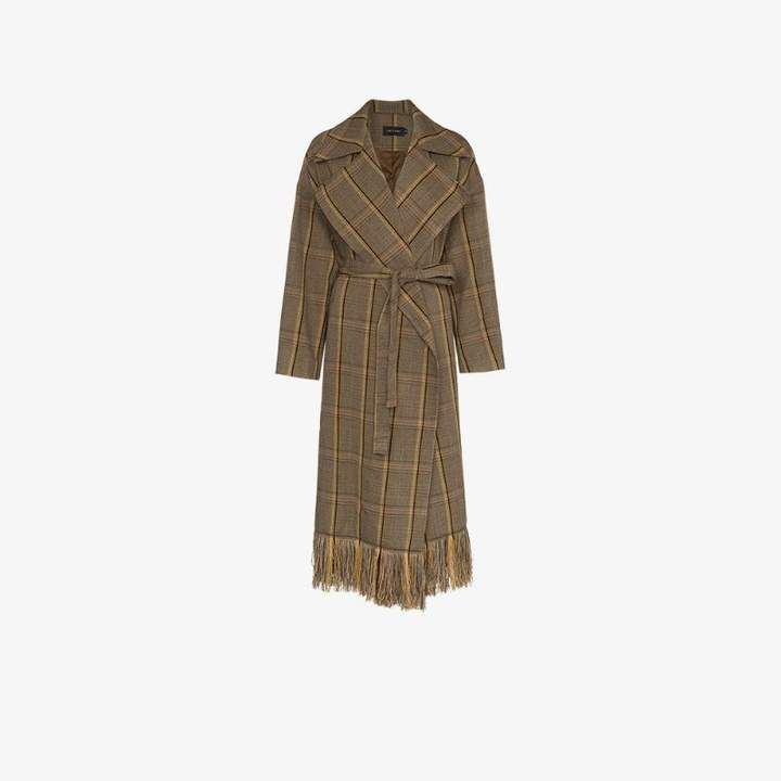 Low Classic check belted trench coat