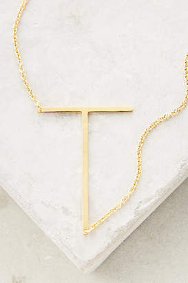 at anthropologie anthropologie block letter monogram necklace