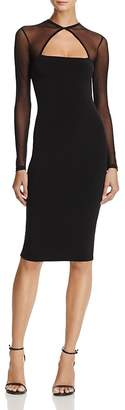 Nookie Tina Mesh-Detail Midi Dress