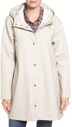 Women's Stutterheim Mosebacke Waterproof A-Line Hooded Raincoat $295 thestylecure.com