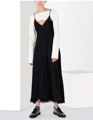 Maison Margiela Lace Trimmed Slip Dress
