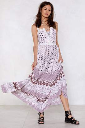Nasty Gal Pull an Act Lace-Up Dress