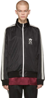 Dolce & Gabbana Black Crown Zip-Up Jacket