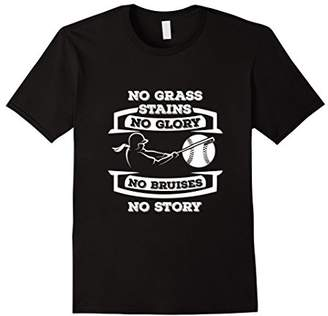 No Grass Stains No Glory Softball T Shirt