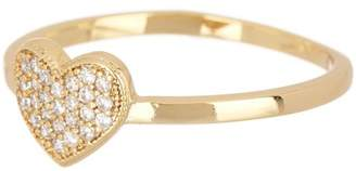 Covet Pave Crystal Heart Ring