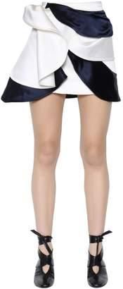J.W.Anderson Layered Draped Silk Satin Mini Skirt