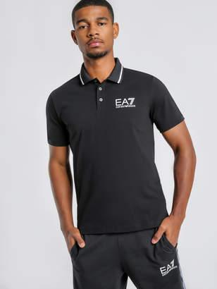 Emporio Armani Ea7 Train Core ID Polo Shirt in Black