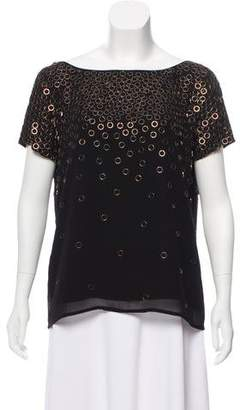 Milly Silk Embellished Top