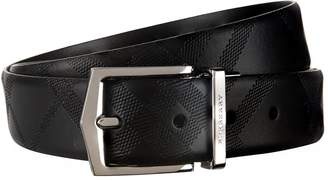 Burberry Reversible Textured Check Belt