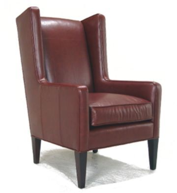 McKenzie Leather Wing Chair