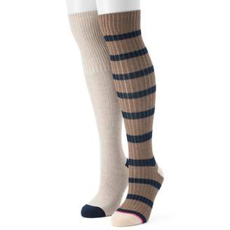 UNIONBAY Women's 2-pk. Rugby Striped Over-the-Knee Socks