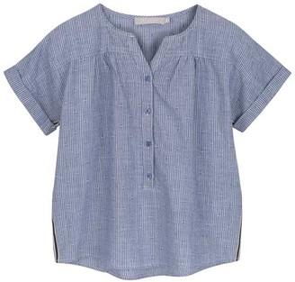 Mint Velvet Blue Striped Chambray Shirt