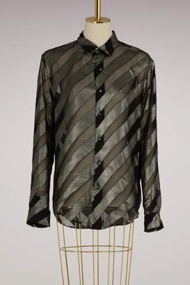 Off-White Diagonal Silk Shirt